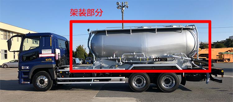 例.粉粒体運搬車 架装部分